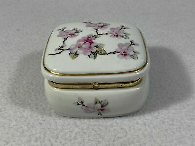 San Francisco Music Box Porcelain Jewelry Box Flower Print Z3753
