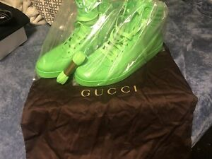 Gucci hi top neon green