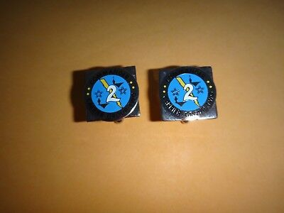 Pair Of US Navy COMMANDER CARRIER GROUP TWO Silver Tone Cuff Links