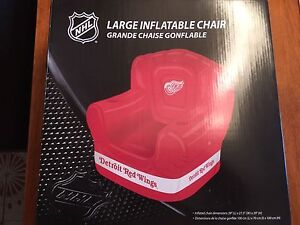 NHL Large Inflatable Chair - Detroit Red Wings - Brand New