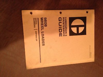 Cat Caterpillar 980 980b Wheel Loader Maintenance Manual 89p906-up