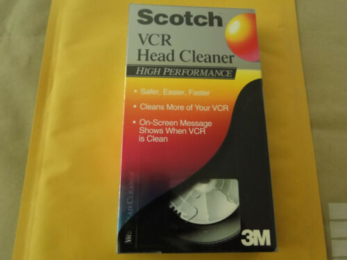 NEW! 3M Scotch VCR Head Cleaner High Performance Tape Cleans your VCR!