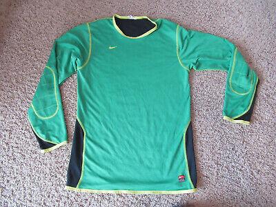 55c5e7a02 Nike Team Soccer Goalie Mens M/L Long Sleeve Green/yellow Jamacia colors  shirt