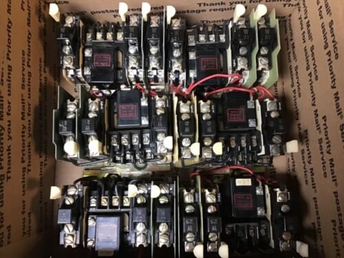 Allen Bradley 709-TOD Size 00 Motor Starters With 120 Volt Coil-Lot Of 6