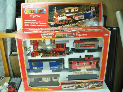1997 New Bright Musical Holiday Train Set North Pole Express G Scale NIB