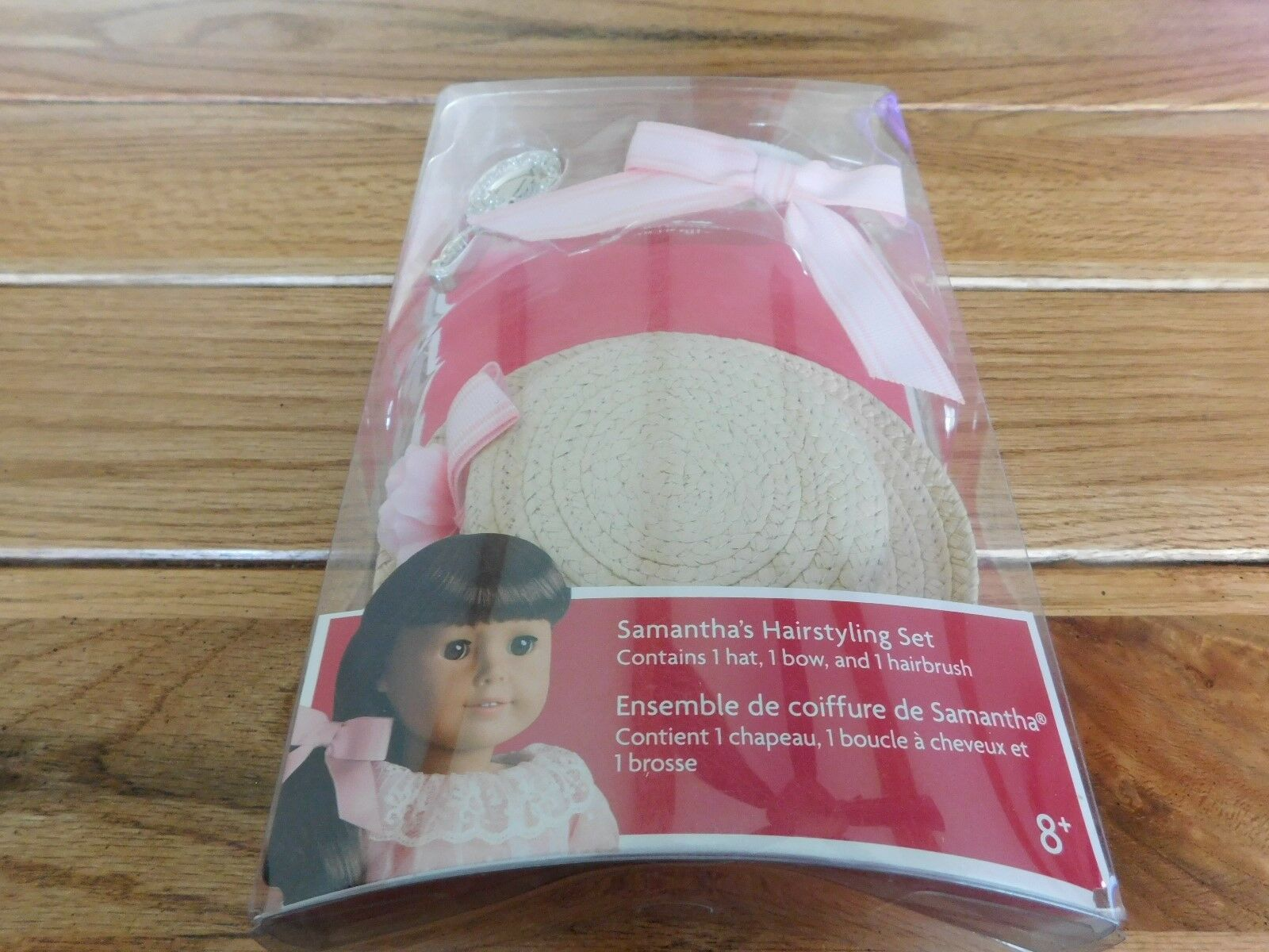 NEW American Girl Samantha/'s Hairstyling Set for Doll Brush Hat Bow