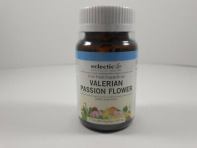 Valerian  Passion Flower Freeze Dried Eclectic Institute 50 Veg Caps 250mg Eclectic Institute Passion Flower