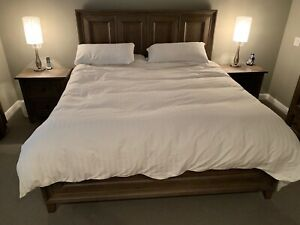 4 piece King bed set and memory foam mattress