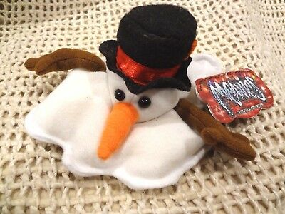 MEANIES SHOCKING  STUFFERS ~ SLUSHY the SNOWMAN ~ STUFFED PLUSH TOY~NEW with TAG