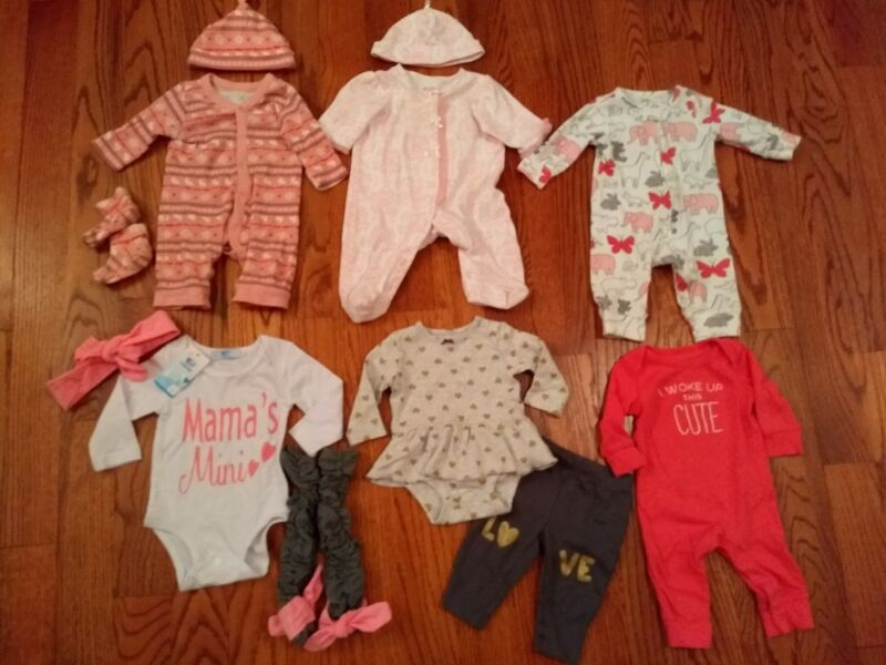 Baby Girl Lot. Size 3 Months. Euc! Old Navy,  Carters