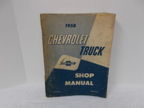 1958 CHEVROLET TRUCK SHOP MANUAL