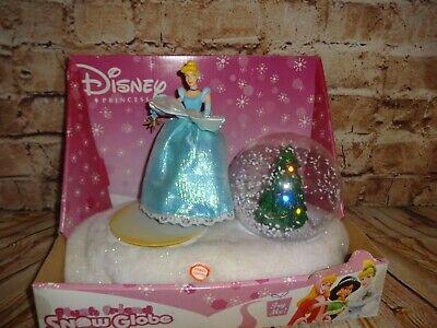 Disney Cinderella Princess Snow Globe Christmas Musical Lights Dancing Gemmy NEW
