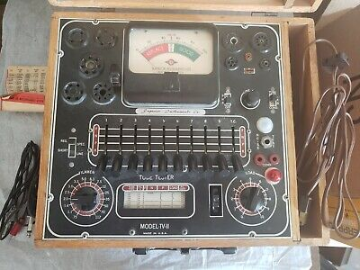 Vintage Working Superior Instruments Tube Tester Tv-11 With Literature