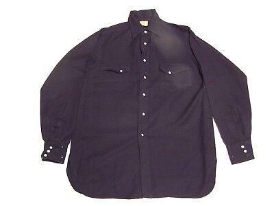 Vintage J.C. PENNEY Western Rodeo Cowboy Mens Worsted Gabardine Shirt Size L che for sale  Aurora