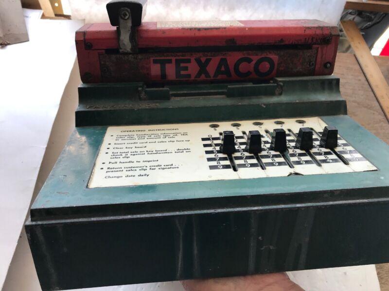 1950's TEXACO Vintage Farrington Credit Card Machine,