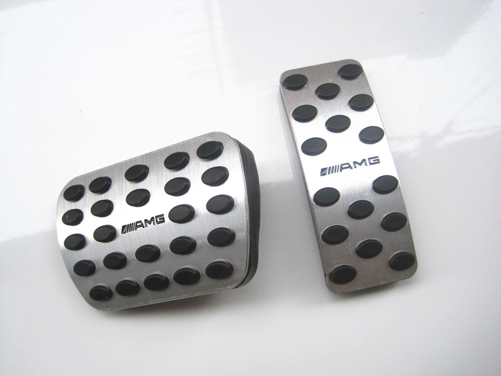 3//Set Non-Slip Gas Brake Foot Rest Pedals For Mercedes-Benz A M Class GLE GL GLS