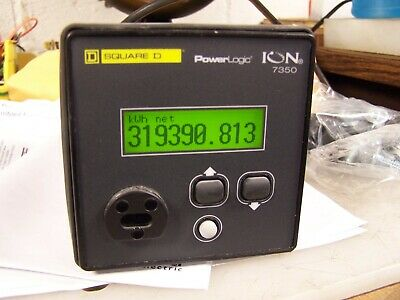 Square D Powerlogic Ion 7350 Power Meter Lc-1111a090-11 With 3 3090scct083 Ct