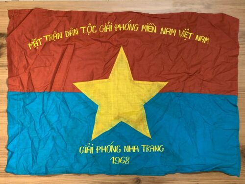 NVA , NLF , VIETNAM WAR FLAG , VC BATTLE FLAG , NLF LIBERATION , NHA TRANG 1968