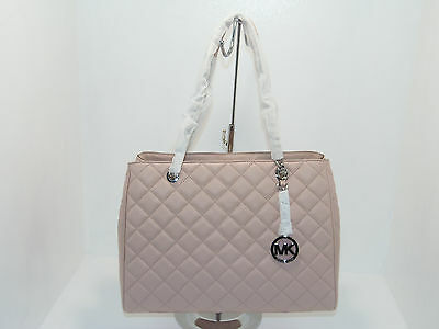 NWT New Michael Kors Handbag Susannah Bag Large Quilted Leather Tote Purse