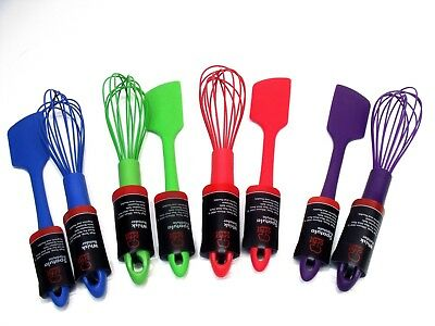 Premium Silicone Wire Whisk & Spatula Set Stain Resistant Dishwasher safe  Dishwasher Safe Silicone Whisk
