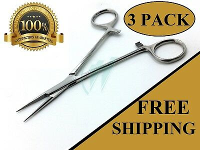 3 Mosquito Hemostat Locking Micro Forceps Straight Fine Point 5 Surgical