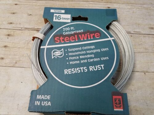 Anchor Wire  200 ft 16 Gauge Galvanized Steel Wire USA NEW