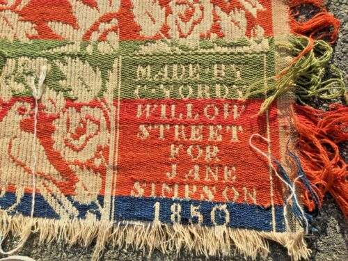 1850 made by C.Yordy Willow Street for Jane Simpson  coverlet/homespun