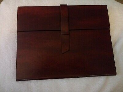 Gallaway Leather Portfolio Brown