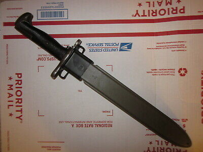 Vintage WWII era 10 inch M1 bayonet w/ scabbard for M1 Garand !!!