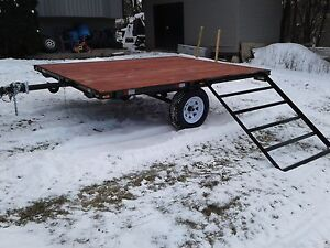 8x10 sled quad side by side trailer