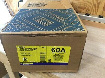 1 Hu362 Square D Safety Switch 60 Amp 3 Pole Hd 600v 60a 3p Nema1