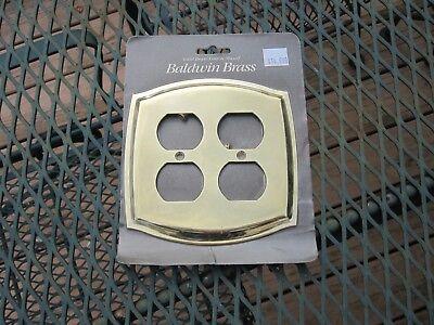 Baldwin Wall Plate (Baldwin Polished Brass Two Outlet Plate Wall Plate)