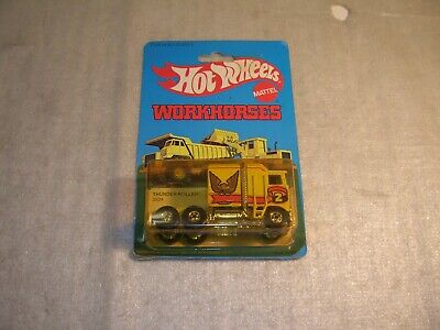 Vintage 1979 Hot Wheels Workhorses Thunder Roller Cab Truck New Sealed on Card !