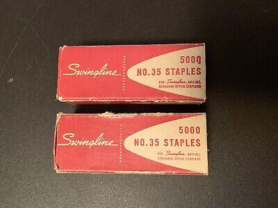 Swingline Two Vintage Boxes No 35 Staples Used Swingline Standard Office Stapler