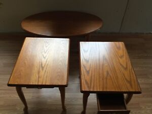 3 Piece Wooded Table set - Excellent Condition