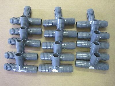 Lot Of Fifteen 15 Lasco 1 Insert Tee Pvc Mfr 1401010