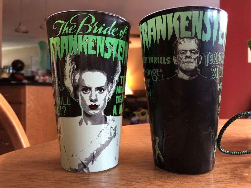 UniversalMonsters Frankenstein & Bride Of Set Karloff Monster Drinking Glasses