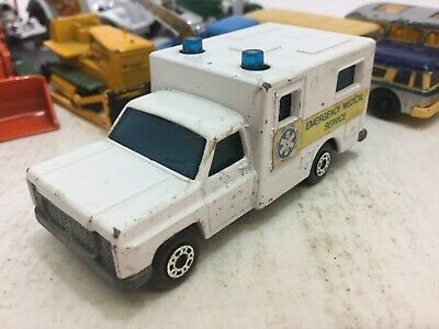 1977 MATCHBOX SUPERFAST #41 AMBULANCE EMERGENCY MEDICAL PARTS RESTORE 1:64 MB