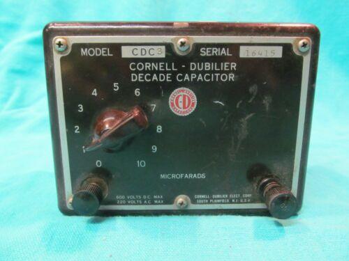 CORNELL DUBILIER CDC-3 DECADE CAPACITOR BOX