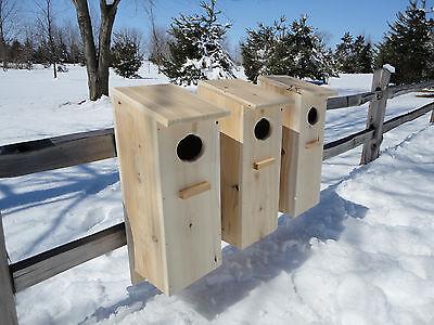 Wood Duck House, Goldeneye, Mergaser, Mandarin Nest Box Kits. ( 3 pack )