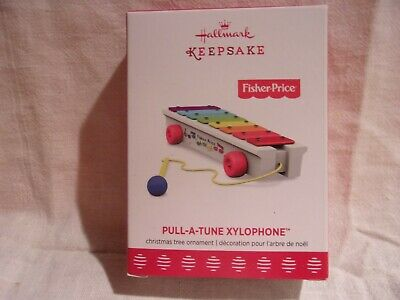 Hallmark 2017 PULL-A-TUNE XYLOPHONE FISHER PRICE ORNAMENT FREE SHIPPING