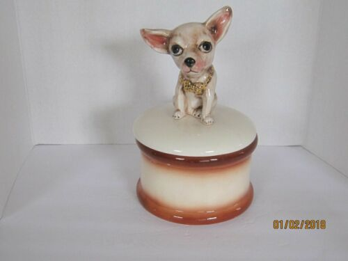 Handmade Ceramic Chihuahua Cookie Jar