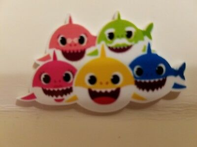 Flat Back Resins (2 For $1.50) Baby Shark Family Daddy Mommy Grandma - Mommy Wholesale