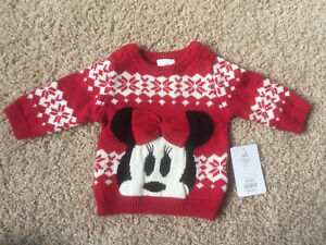 Brand new with tags Minnie Mouse Sweater 0-3 mths