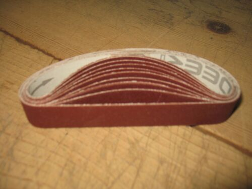 "10- 3/4 x 12"" 220 Grit sanding belts for WSKO Ken Onion Knife Sharpener"