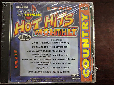 Chartbuster Karaoke Country Hot Hits Monthly June 2010 CDG (60442M)