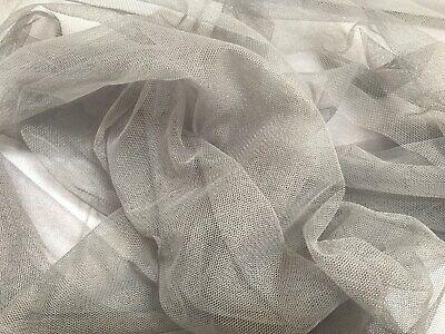 Tüll - Grau - 50 cm