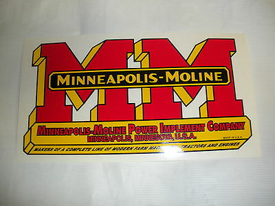 Minneapolis Moline Decal 5 X 9 12 New Free Shipping