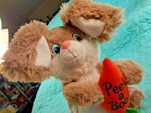 "Peek A Boo 11.5"" Animated Plush Bunny Rabbit Dan Dee Collectors Choice"