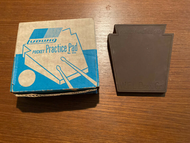 Ludwig Pocket Practice Pad With Original Box